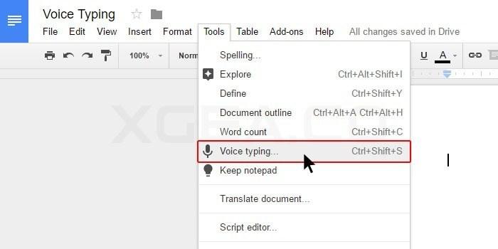 Google Drive Feature Google Docs Voice Typing