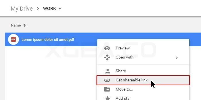 Google Drive get shareable link