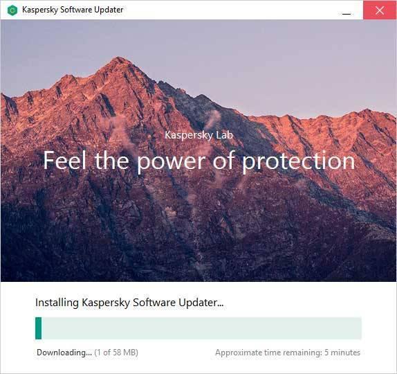 Installing Kaspersky Software Updater