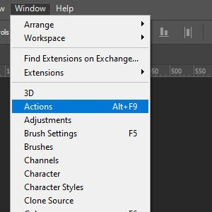 Access Adobe Photoshop Actions