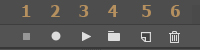 Adobe Photoshop Actions Buttons