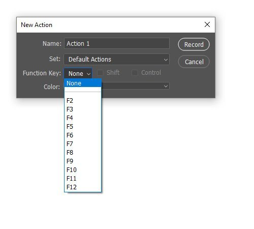 Create New Adobe Photoshop Actions