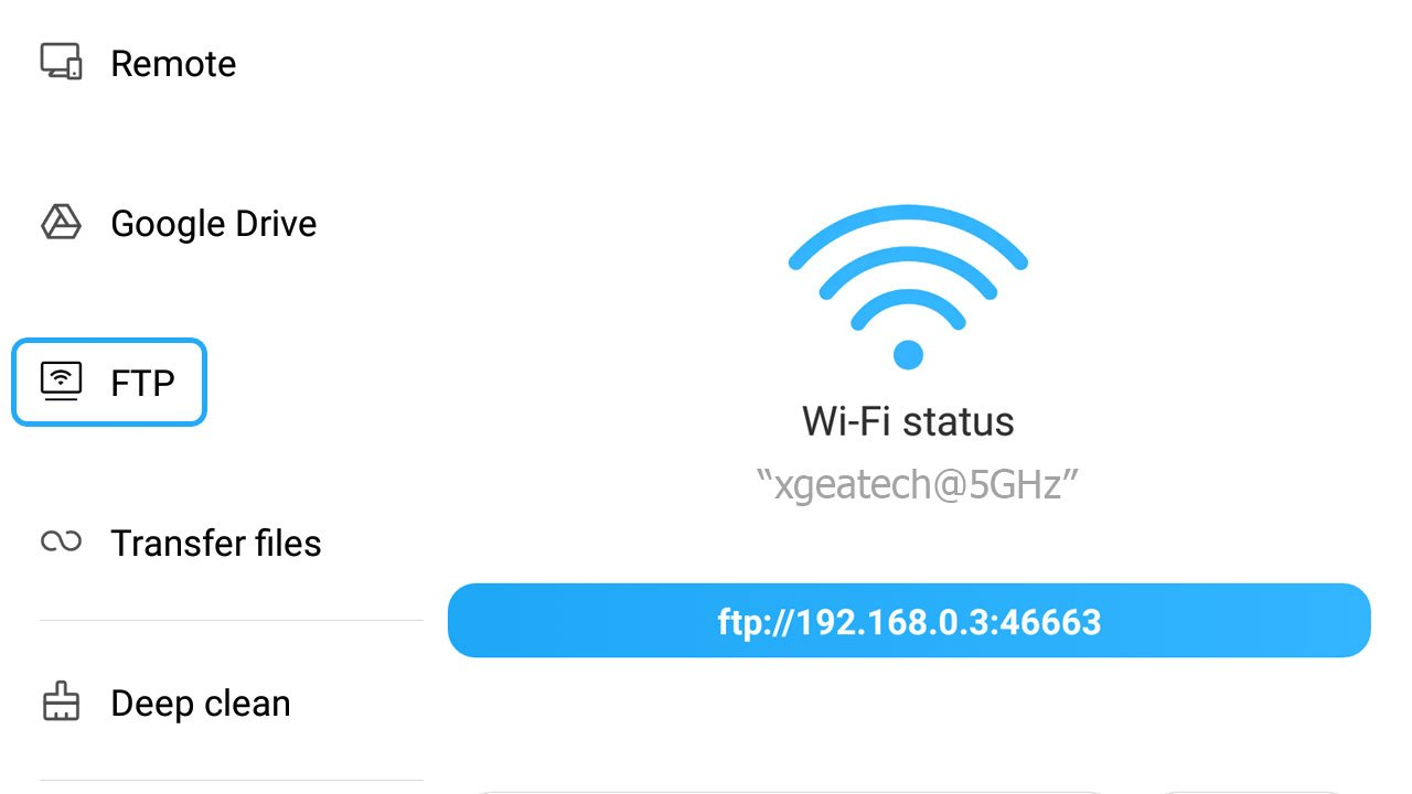 Xiaomi Phone FTP Enable